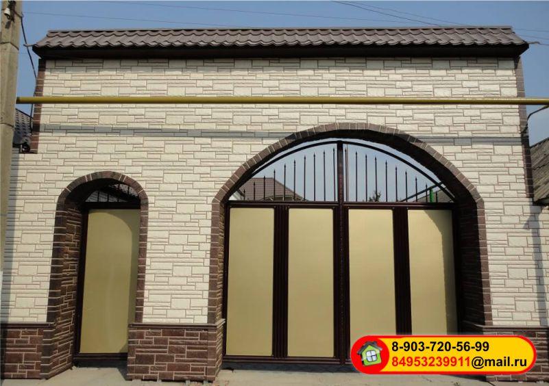 Монтаж фасадных панелей Альта-профиль — Камень