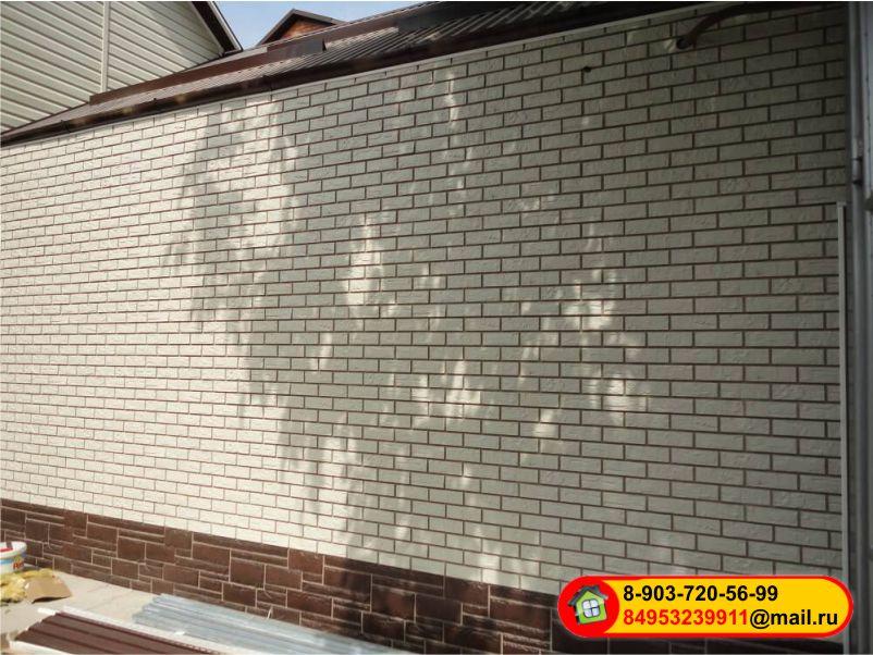Монтаж фасадных панелей Альта-профиль - Камень