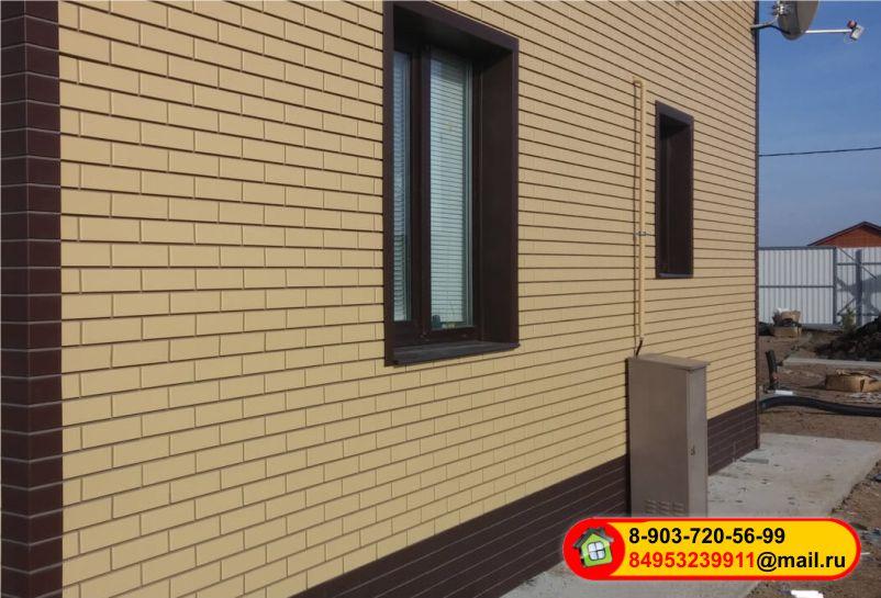 Монтаж фасадных панелей NordSide Гладкий кирпич
