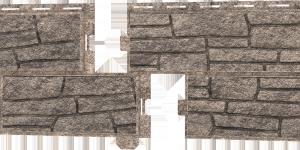 Фасадные панели Ю-пласт (Стоун Хаус Сланец) — Бежевый