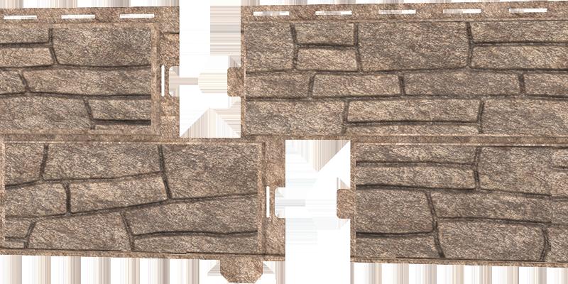 Фасадные панели Ю-пласт (Стоун Хаус Сланец) — Бурый