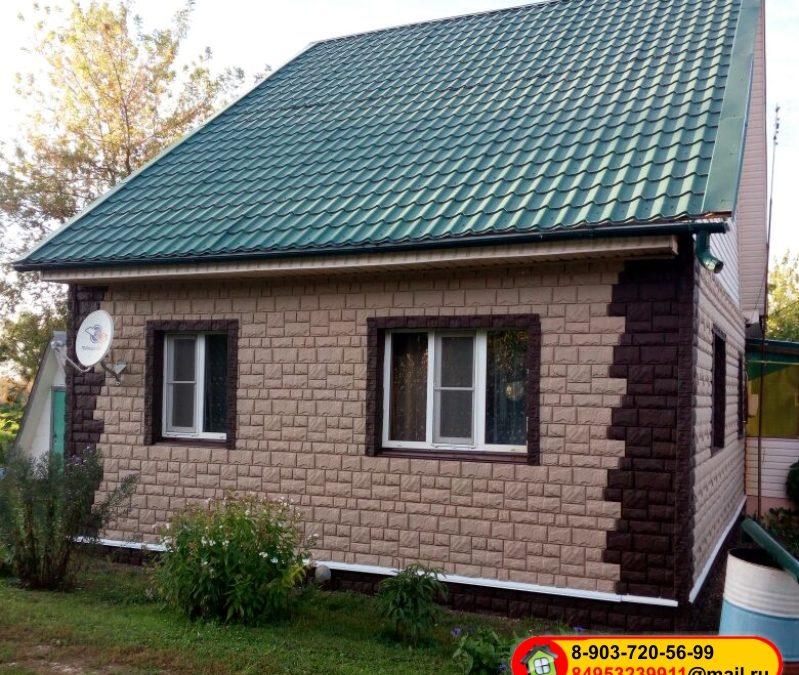 Монтаж сайдинга под камень «Саnadaridge», Россия