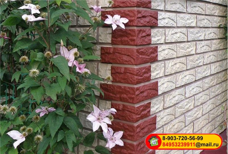 Внешний угол для фасадных панелей Техоснастка (под кирпич, камень, щепу)
