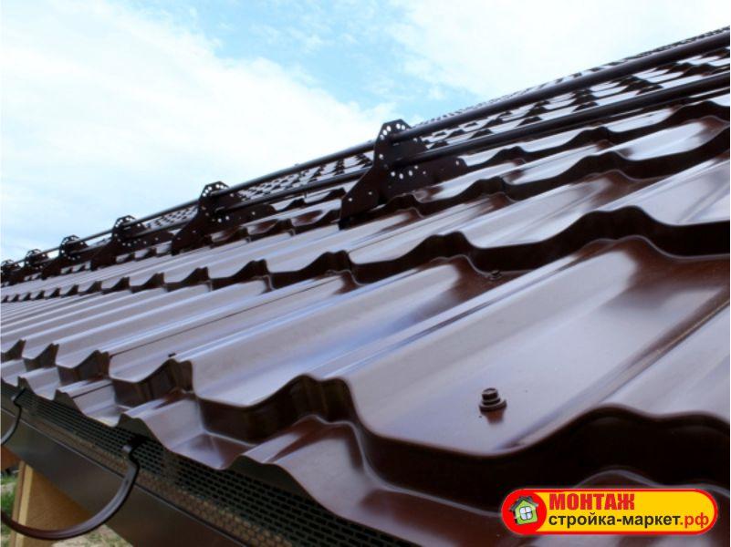 Монтаж металлочерепицы GrandLine — KVINTA PLUS и снегозадержателей