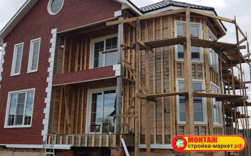 Монтаж фасадных панелей VOX - отделка окон и углов Альта-Декор