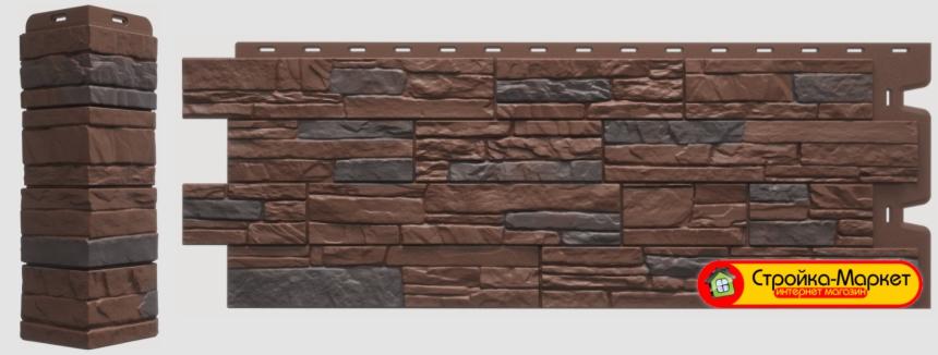 Панели Docke, Stein Темный орех подарят вам отличный внешний вид и роскошную текстуру природного слоистого песчаника.